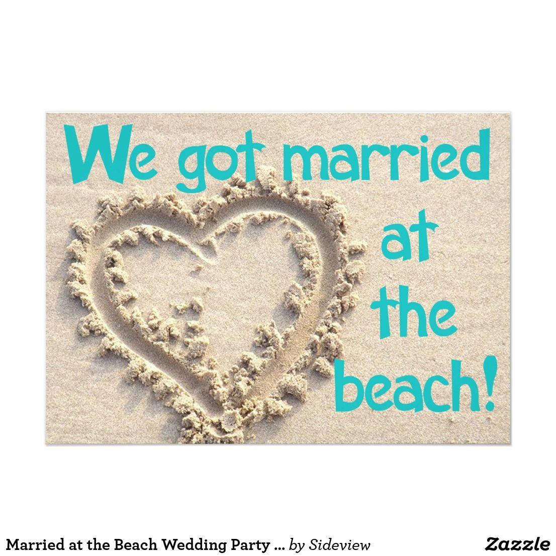 Married at the Beach Wedding Party Invitation | Beach weddings ...