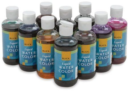 Amazon Com Blick Liquid Watercolors Set Of 10 Colors Toys