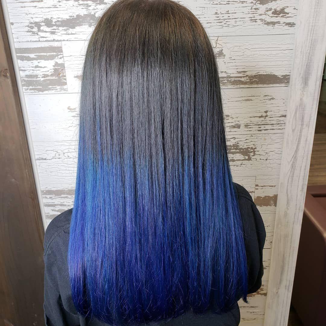 Fun Blue Velvet Dip Dye By Hair Bysarahbart Lunartides Bluehair