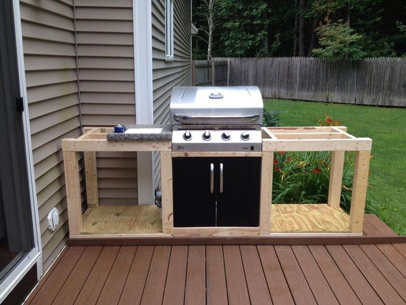 85 Best Outdoor Kitchen and Grill Ideas for Summer ... on Patio Grill Station id=49639