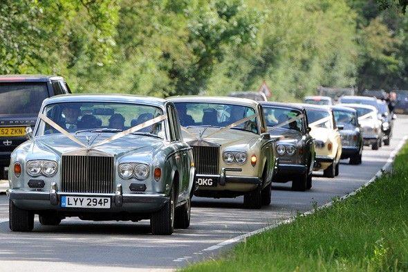 I Like The Ribbons Used To Decorate The Wedding Cars Wedding Transportation Wedding Car Celebrity Weddings