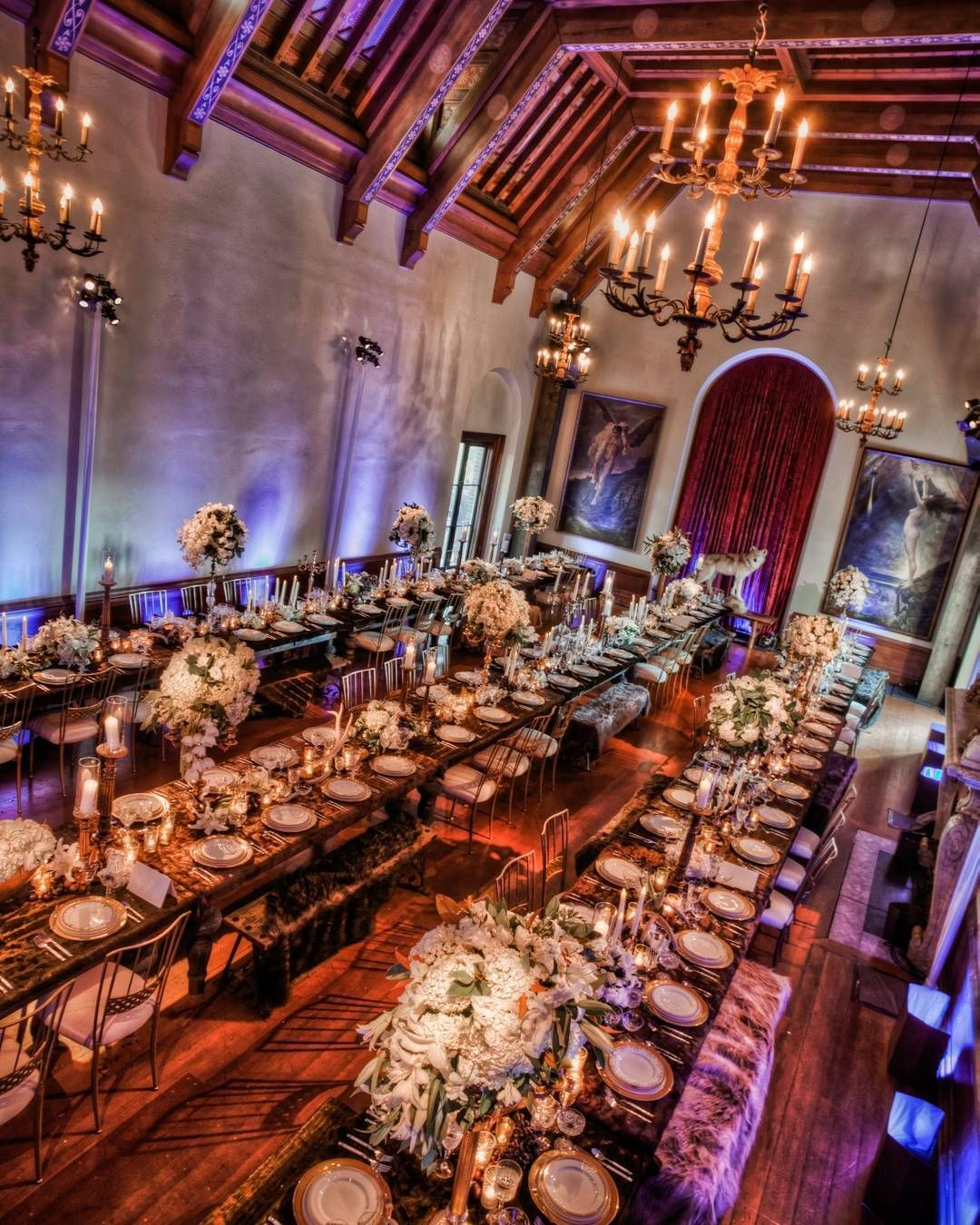 Luxury Wedding Reception With A Perfect And Awesome: Family Style Seating And Awesome Decor For This
