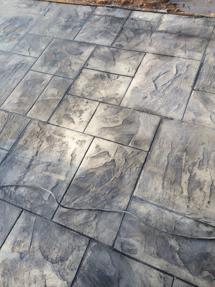 Decorative Stamped Concrete Grand Ashlar Stamp Italian Slate Texture Butterfield Color Concrete Stain Patio Stamped Concrete Stamped Concrete Patio