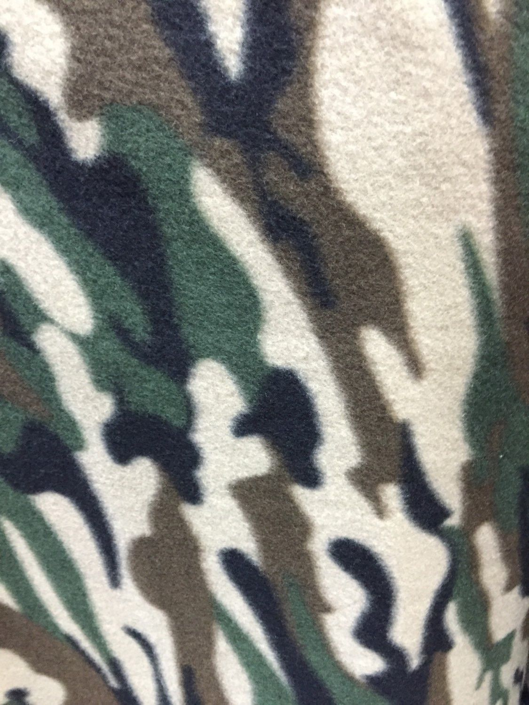 Woodland army camouflage print polar fleece fabric by the yard