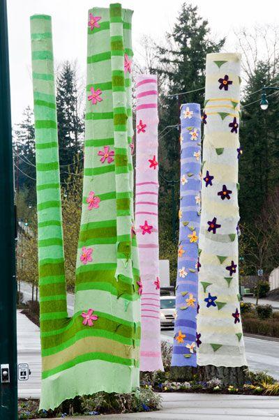 Yarn Bombing- so colorfully naughty... yet nice!