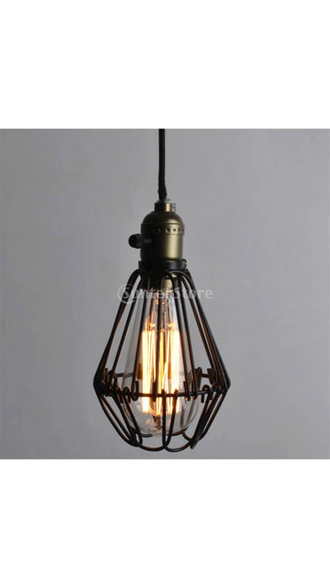 Paytm com buy magideal retro iron hanging lamp cages shade no wire pendant light e27 antique brass online at best prices in india on paytm com