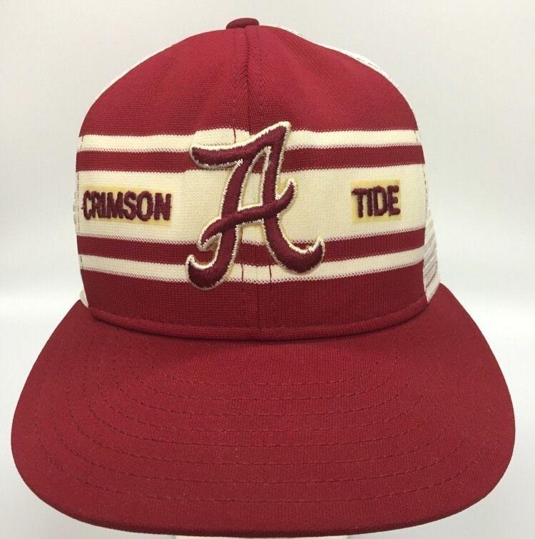 afef0ee061f0ef Vintage Alabama Snapback Hat Crimson Tide Roll Tide Bama Red White Mesh  Trucker #Alabama