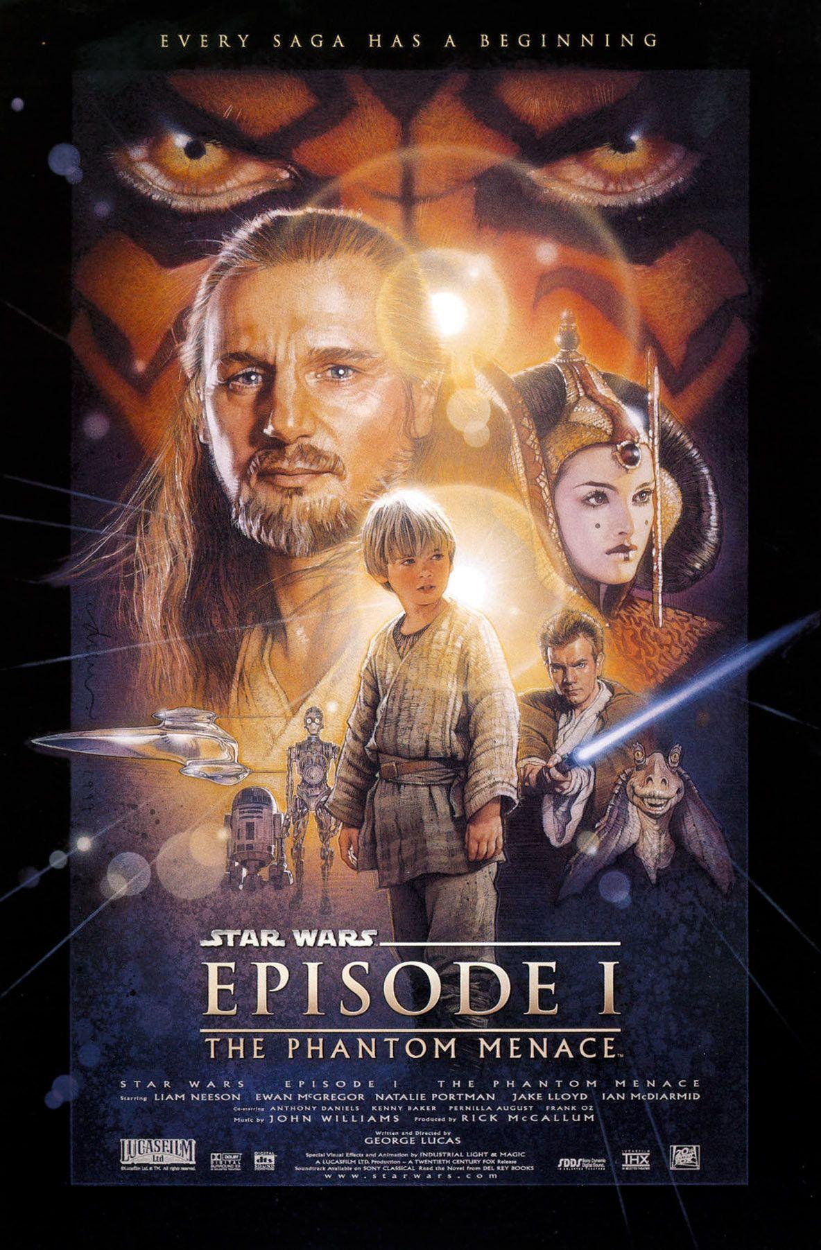 Star Wars Episode I The Phantom Menace Filme Sehen Filmplakate Star Wars