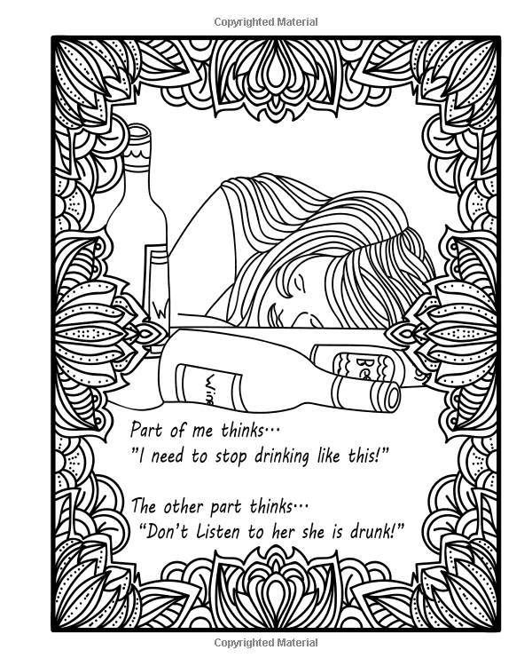 Amazon Com Alcohol Coloring Book For Drunks 30 Fun Pages For Any Person In Your Life That You Think Will Find Alcoholic Jokes A Coloring Books 30 Fun Amusing