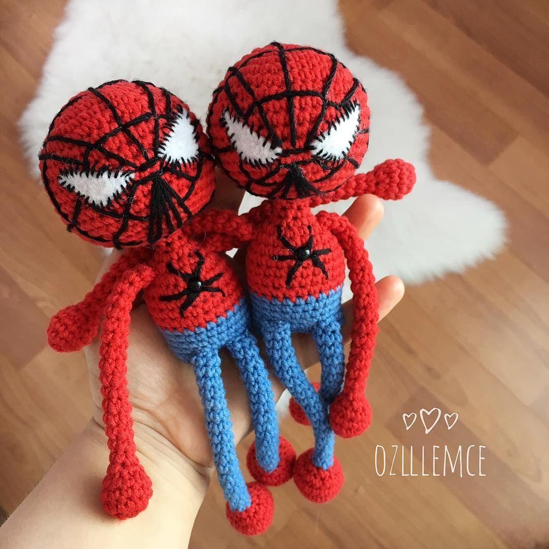 Spider Man[CROCHET FREE PATTERNS | Crochet amigurumi free patterns ... | 1080x1080