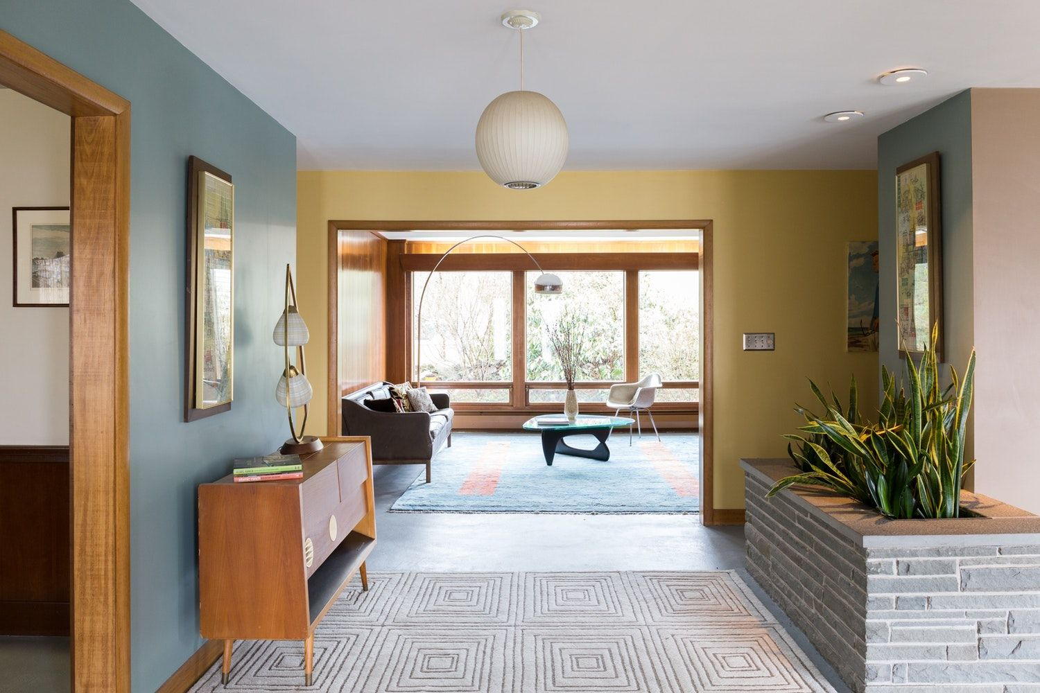 A Lovingly Restored MidCentury Home in Rhode Island Mid