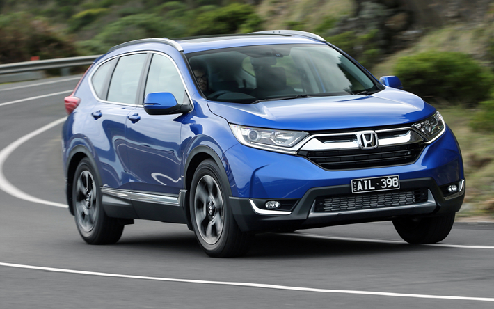 Wallpapers Honda Cr V 2018 Cars Movement Blue Crossovers