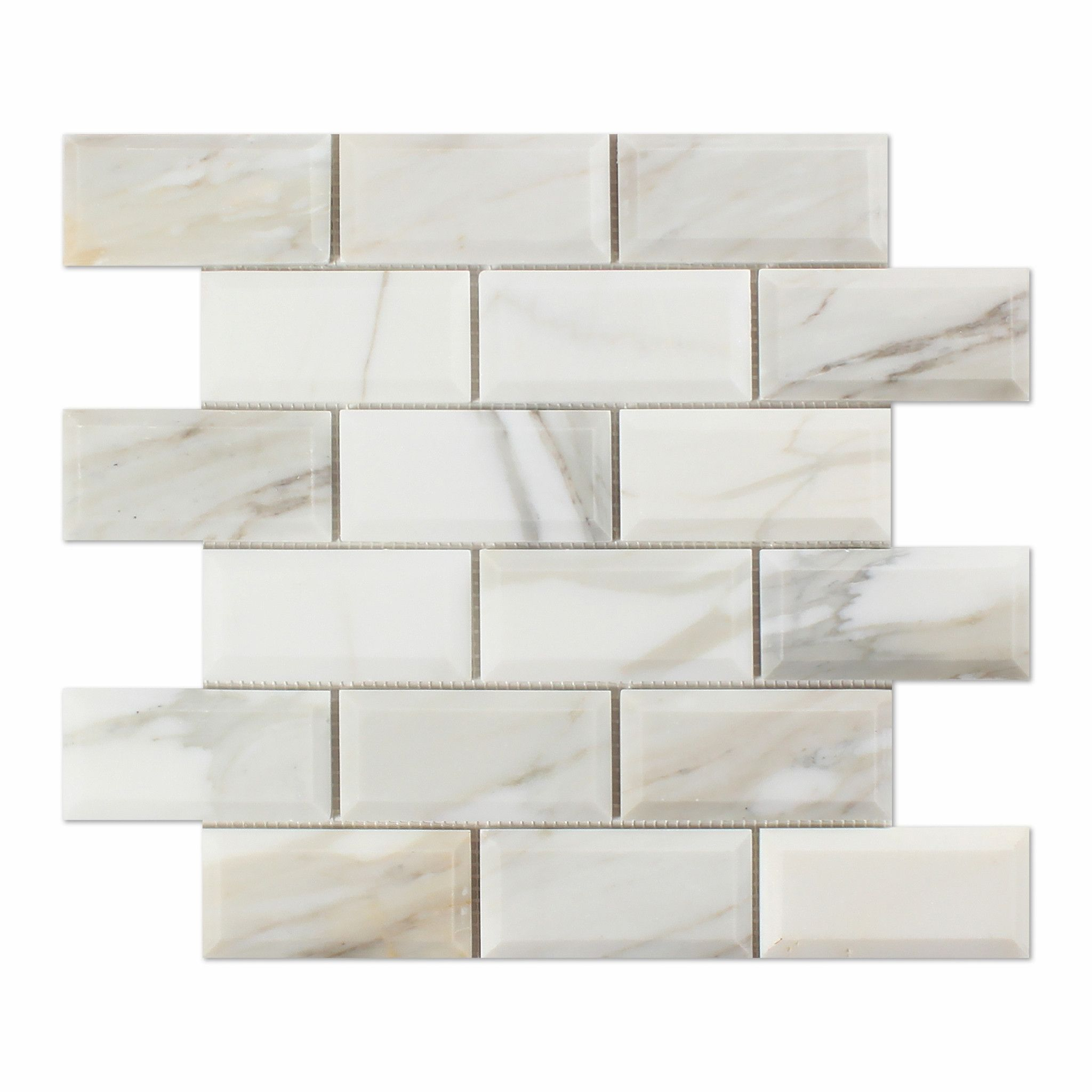 2 X 4 Calacatta Gold Marble Polished Amp Beveled Brick