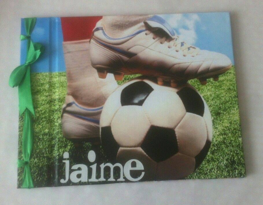 Libro de firmas. Papel fútbol.  Cosido japonés
