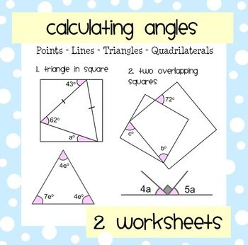 A Set Of Problems Based Around Finding Angles Created By Straight Lines Triangles And Quadrilaterals Worksheet 1 Cal Tricky Questions Quadrilaterals Angles