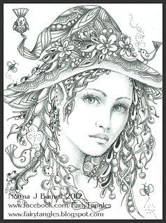 fairy tangles by norma j burnell myth mythical mystical legend elf fairy