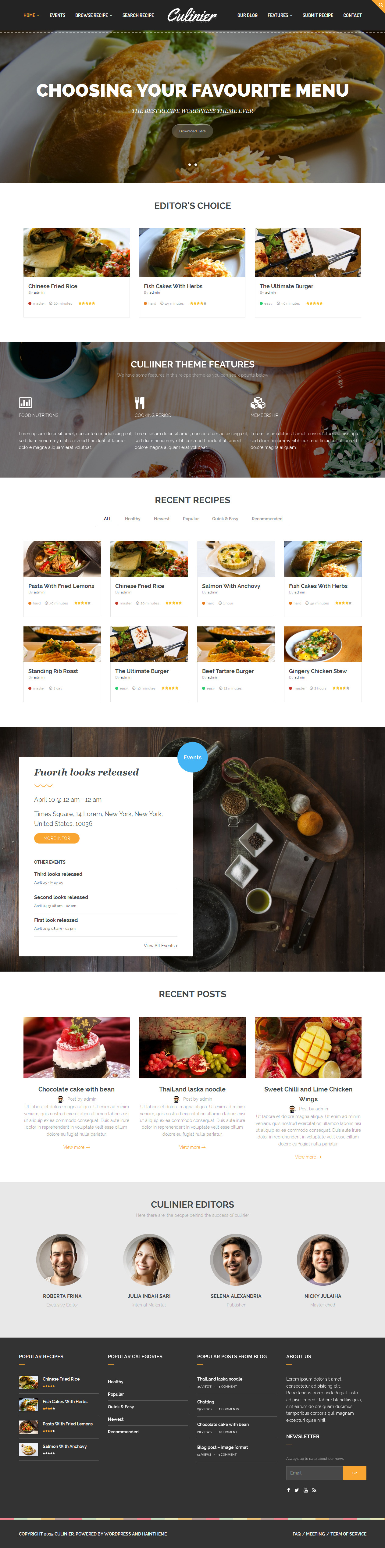Culinier food recipe wordpress theme wordpress simple web culinier food recipe wordpress theme forumfinder Choice Image