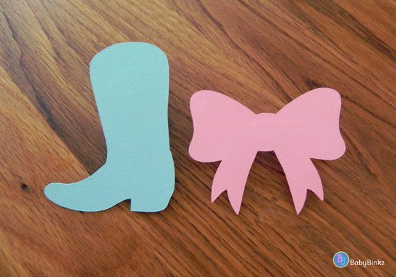 Boots And Bows Gender Reveal Decorations