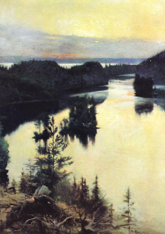 Kuva albumissa ALBERT EDELFELT - Google Kuvat. Kaukolanharju, 1889-1890.  Ateneumin Taidemuseo, iso tk.