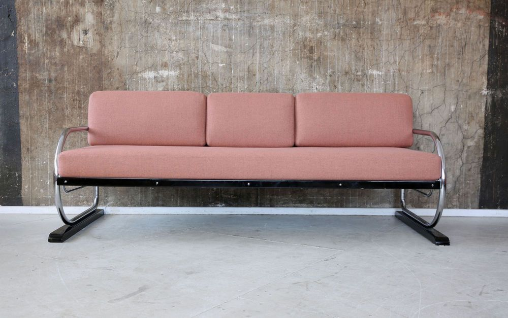 Tremendous Art Deco Sofa Daybed Stahlrohr Streamline Schlafsofa Bauhaus Evergreenethics Interior Chair Design Evergreenethicsorg