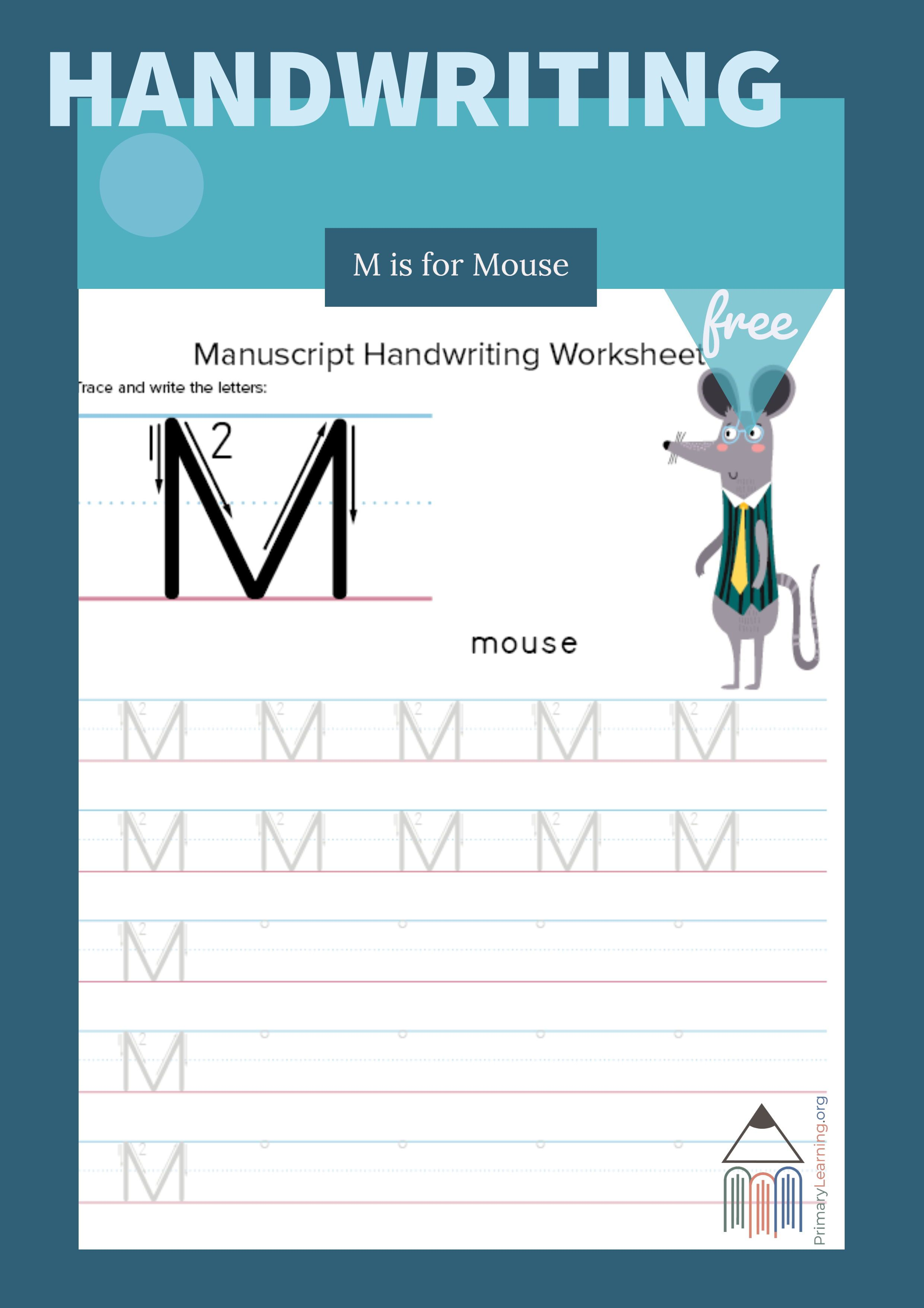 Tracing And Writing Letter M