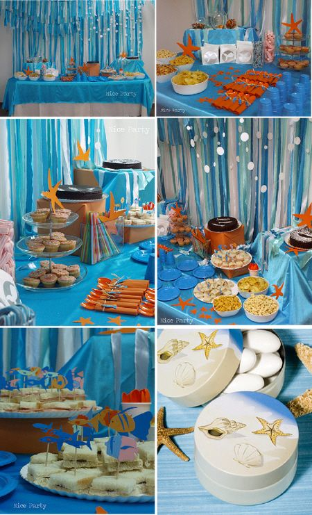 Amazing Beach Themed Party Decorating Ideas Part - 3: Beach Themed Kids Birthday Party | This Cute Beach Theme Fiesta Found At  Nice Party Blog