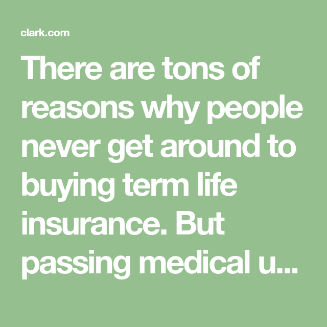 How to Get Term Life Insurance With No Medical Exam | Term ...