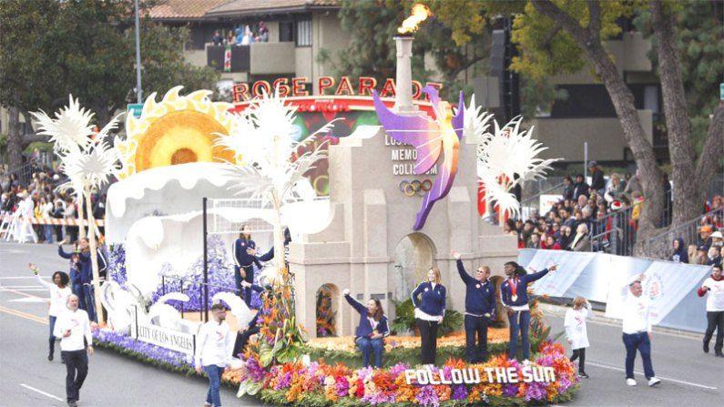 Los Angeles 2024 Olympic Bid Highlighted At Annual Rose Parade Rose Parade Parades Rose
