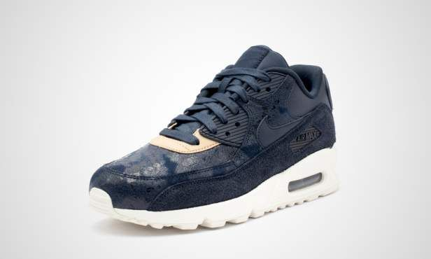 Nike Air Max 90 SE Leather Silver Pack (GS) 859633 003