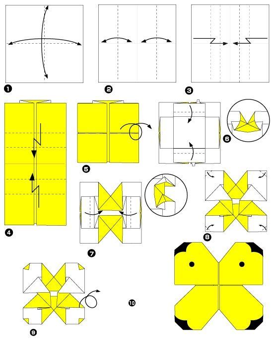 papillon en origami origami et d coupages pinterest. Black Bedroom Furniture Sets. Home Design Ideas