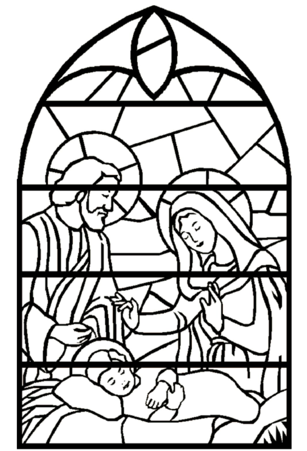 stained glass coloring nativity christmas crafts pinterest lds