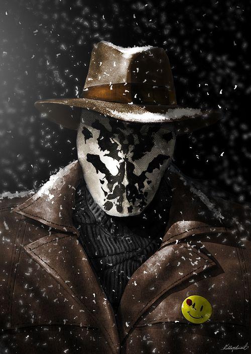 watchmen / rorschah / mr. manhattan / nite owl / comedian #watchmen #dccomics #art #illustration #rorschah Minus.com