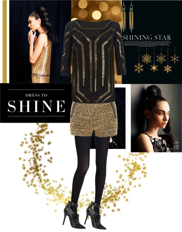 """""""Shine for the Holidays: Gold"""" by anne-symanski-goranson ❤ liked on Polyvore"""