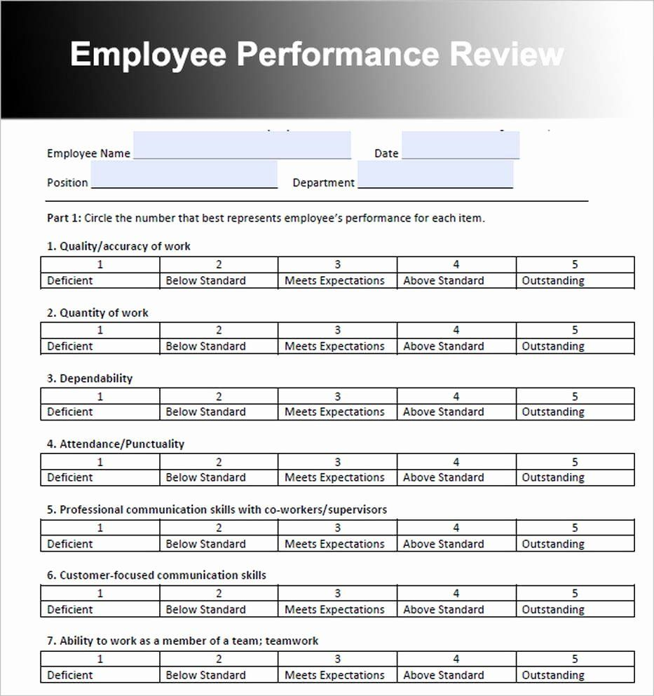 Customer Service Performance Review Template in 2020 (With
