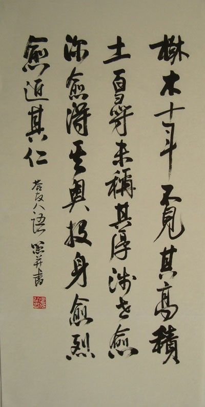 Dispel the clouds and see the sun. Chinese style celebrity #calligraphy - replica