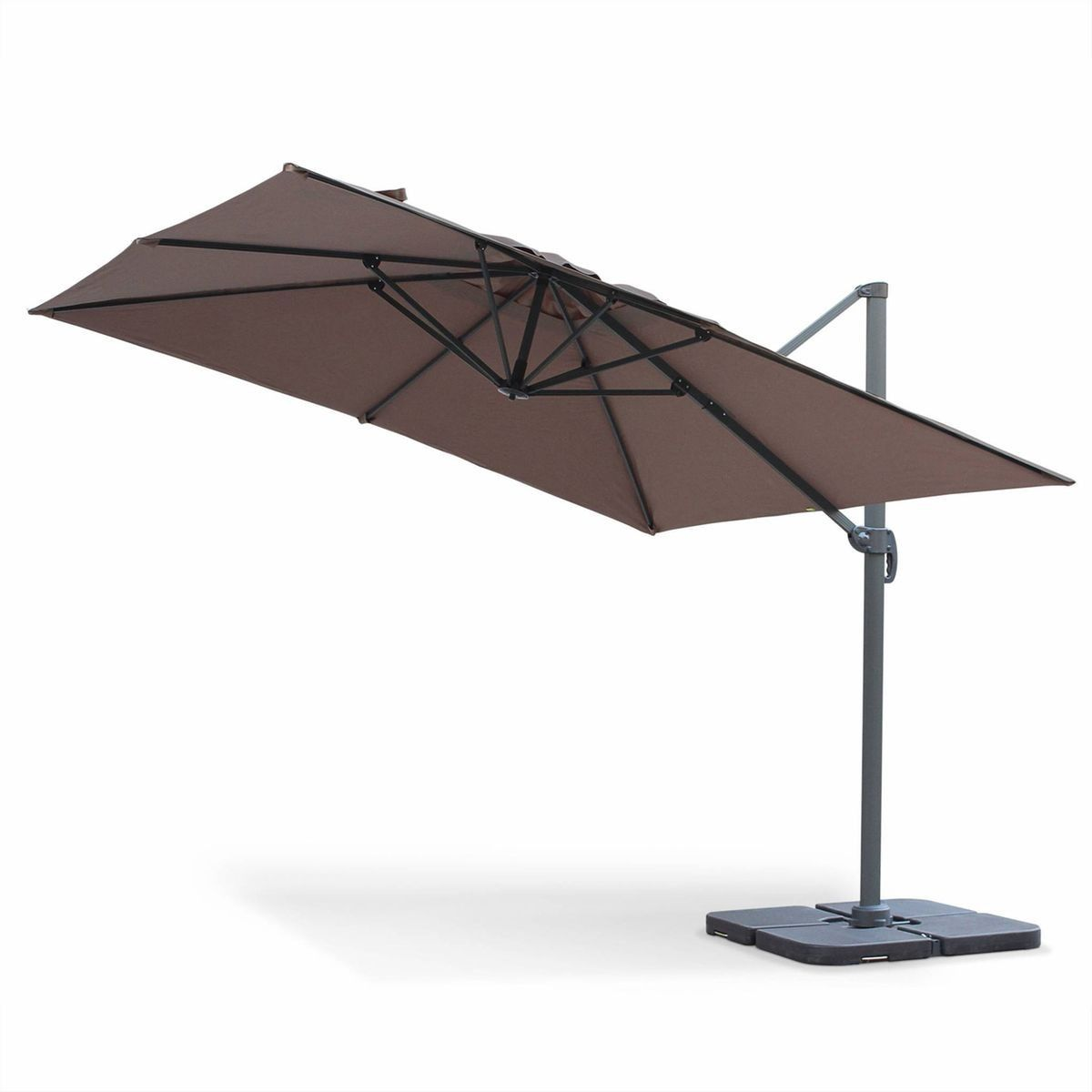 Parasol Deporte Carre 3x3m Haut De Gamme Excentre Inclinable Rotatif A 360 Taupe Taille Tu Products Parasol Deporte Parasol Et Parasols