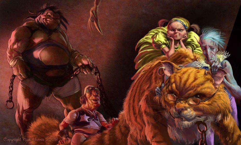 Digital Painting Nick Harris Fat Cat and Fury