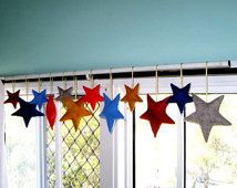 12 Felted Stars Decorations