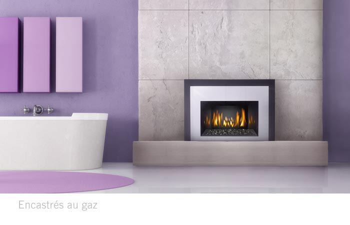 un insert gaz naturel dans une salle de bain pour une sortie de bain tout en douceur foyer. Black Bedroom Furniture Sets. Home Design Ideas