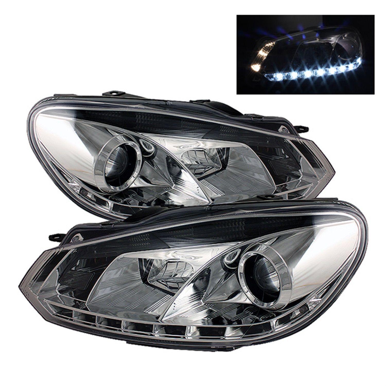 Spyder Auto DRL Projector Headlights Fits 10 12 Golf GTI