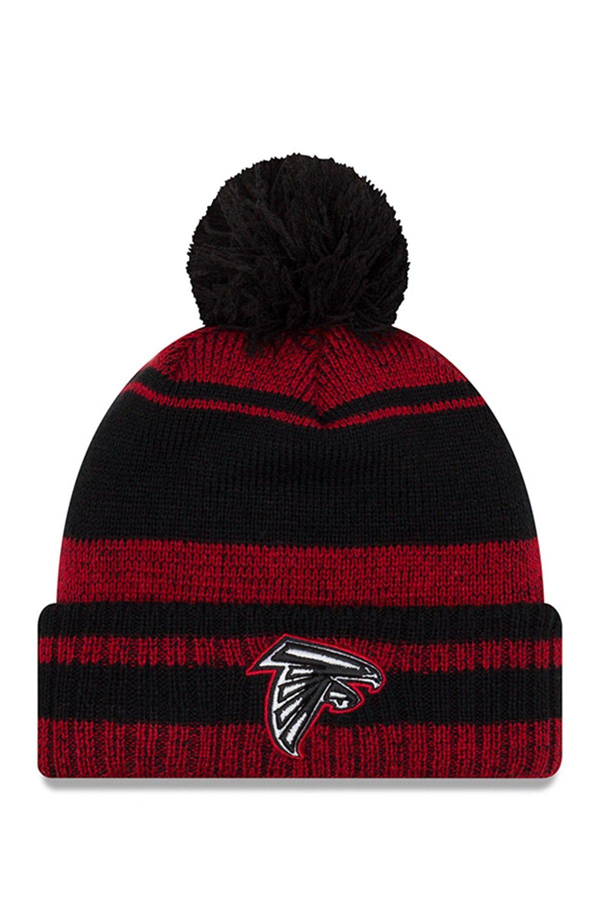 New Era Cap Nfl Atlanta Falcons Glacial Pom Knit Beanie Beanie Knit Beanie Atlanta Falcons