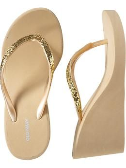 04e7085e4e9641 Women s Embellished Wedge Flip-Flops. Love the Sparkle and the Wedge.  ON