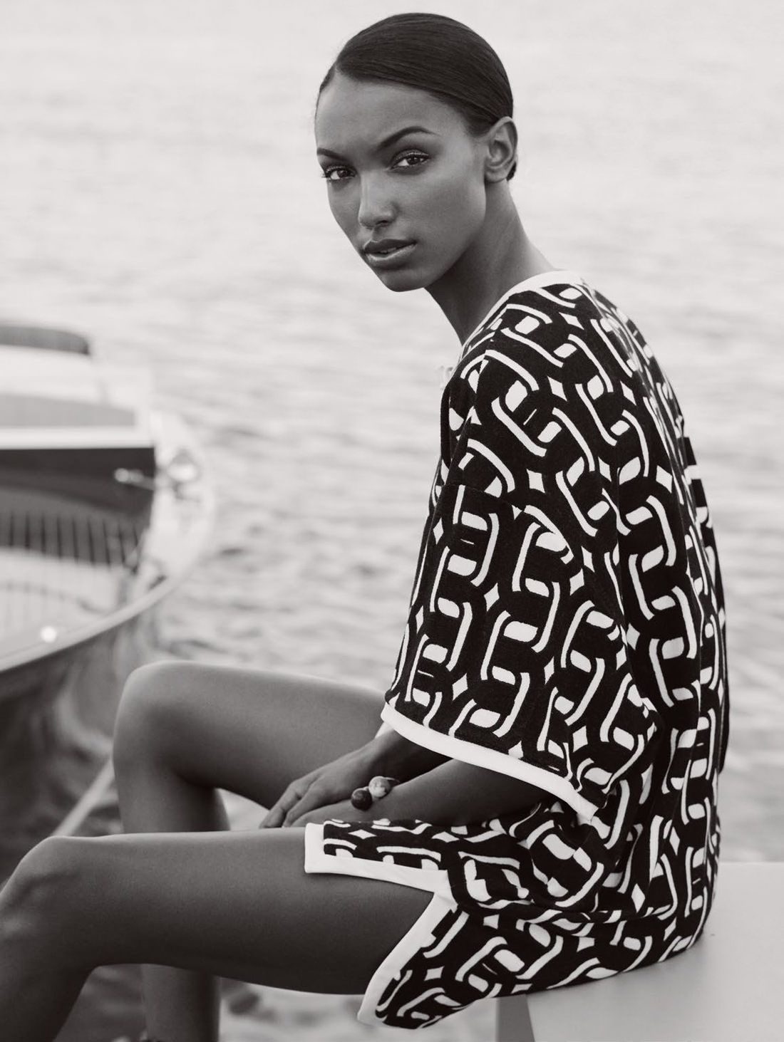 visual optimism; fashion editorials, shows, campaigns & more!: beyond the sea: jasmine tookes by bjarne jonasson for uk elle may 2015