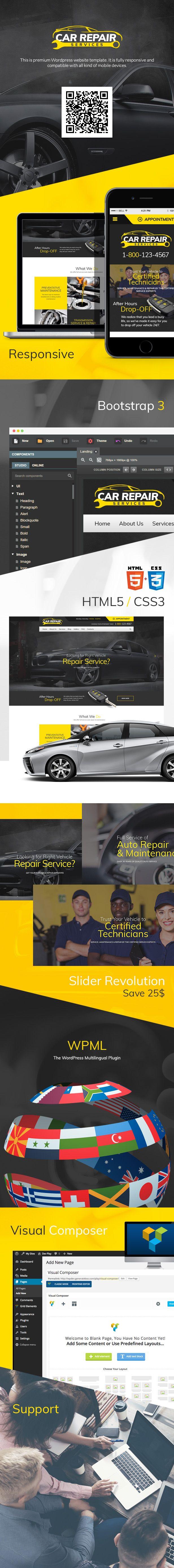 Car Repair Services Auto Mechanic Wordpress Theme Mechanic Workshops Download Https Themeforest Net Item C Car Repair Service Car Mechanic Auto Repair