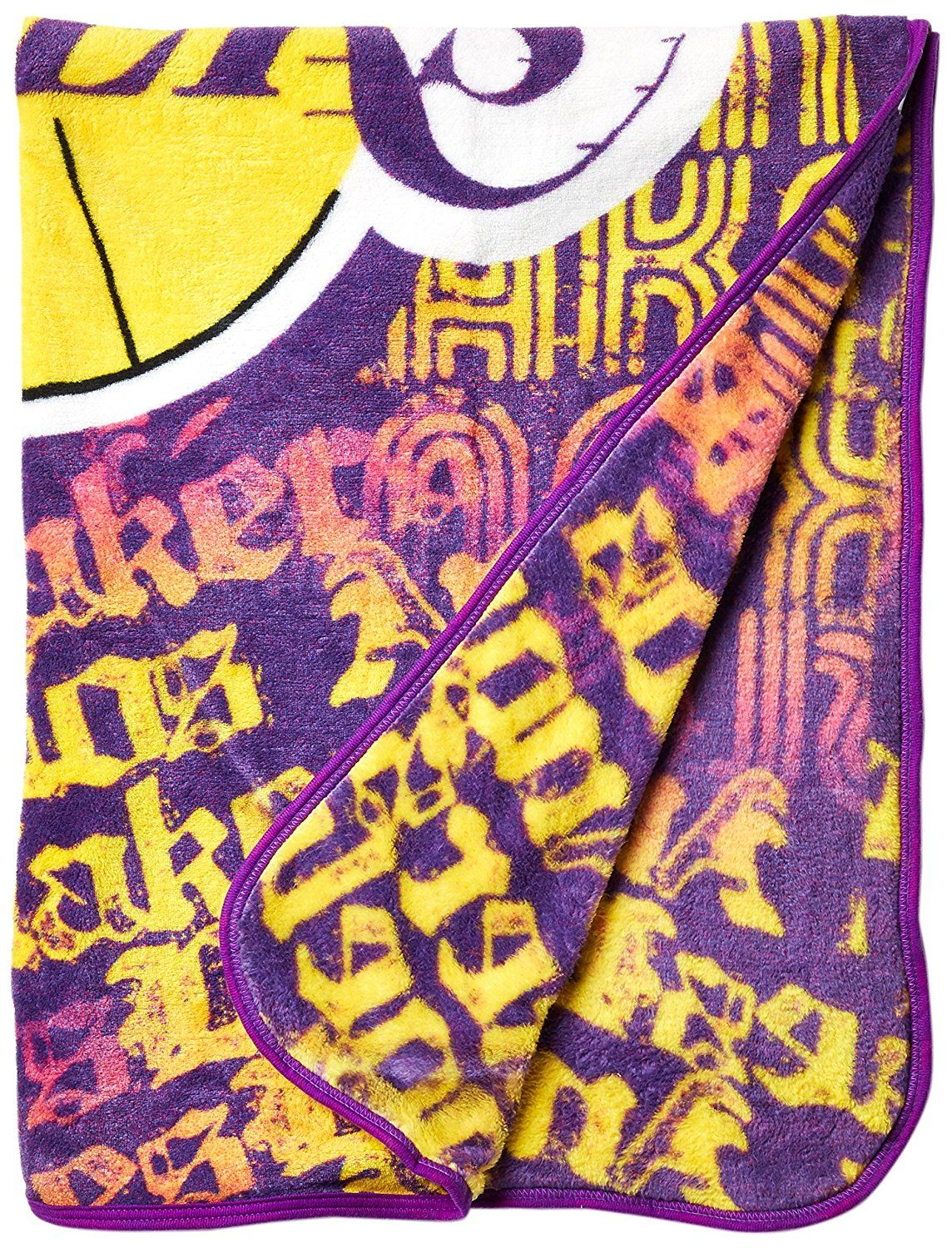 Amazon.com   Officially Licensed NBA Los Angeles Lakers Redux Micro Raschel Throw  Blanket 5f9a2c79e