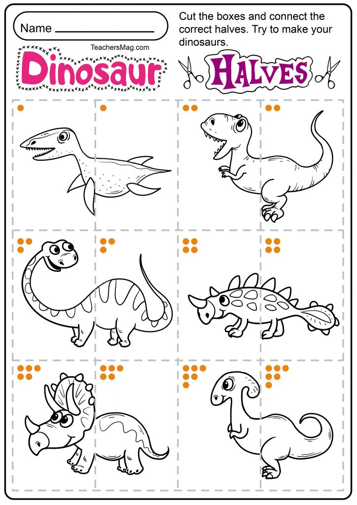 Free Printable Dinosaur Worksheets TeachersMag.com Dinosaur Worksheets, Preschool  Themes Free, Dinosaurs Preschool