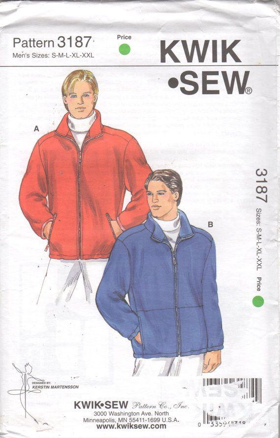 Kwik Sew 2201 Mens WINDSUIT Pattern Color Block Windbreaker Jacket ...