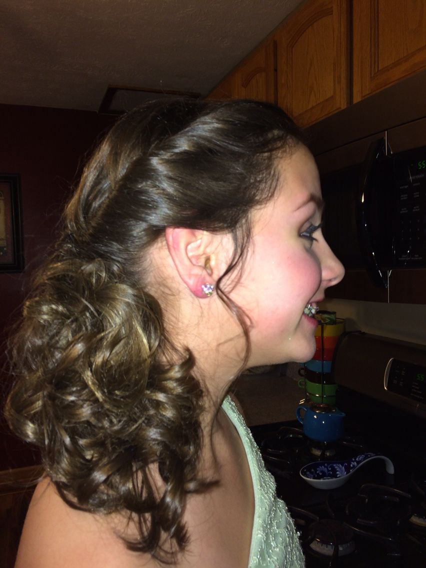 Easy hairstyle for a semi formal dance hair pinterest