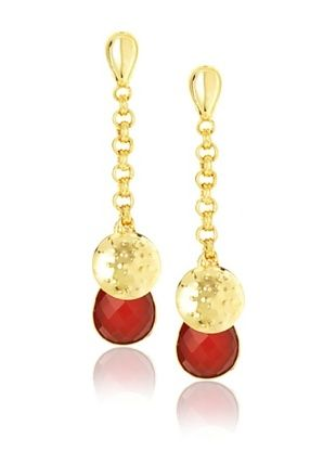 Saachi 18K Gold-Plated Carnelian Earrings