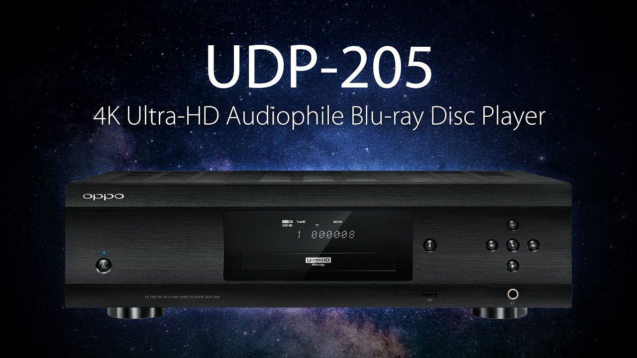 Oppo Udp 205 New 1 300 4k Blu Ray Player That S Made For Audiophiles Blu Ray Discs Audiophile Blu Ray